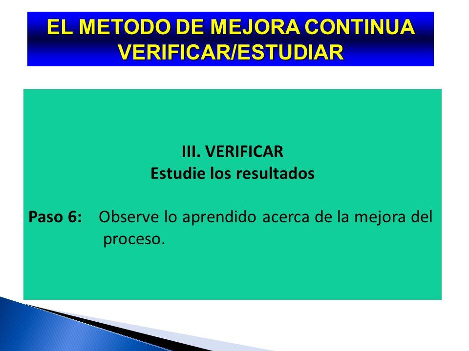 EL METODO DE MEJORA CONTINUA HACER II.