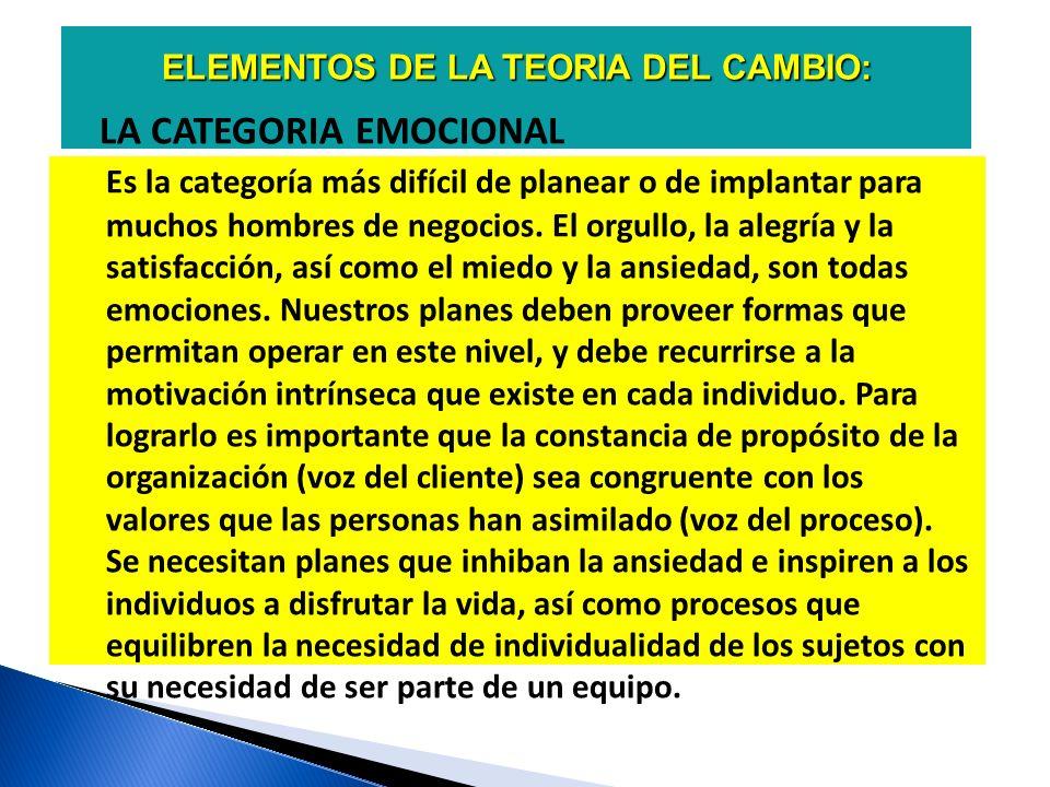 ELEMENTOS DE LA TEORIA DE CAMBIO: LA CATEGORIA LOGICA Es importante para los ingenieros, científicos, contadores, especialistas en estadística y todo aquel relacionados con disciplinas racionales.