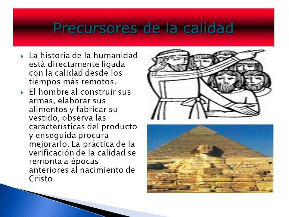 La historia de la humanidad está directamente ligada con la calidad desde los tiempos más remotos.