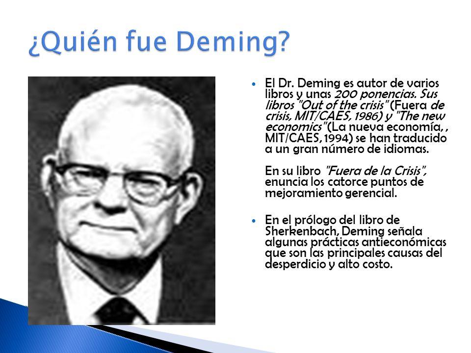 El Dr.Deming es autor de varios libros y unas 200 ponencias.