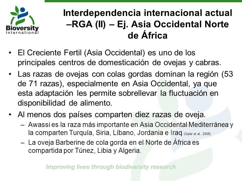 Interdependencia internacional actual –RGA (II) – Ej. Asia Occidental Norte de África El Creciente Fertil (Asia Occidental) es uno de los principales