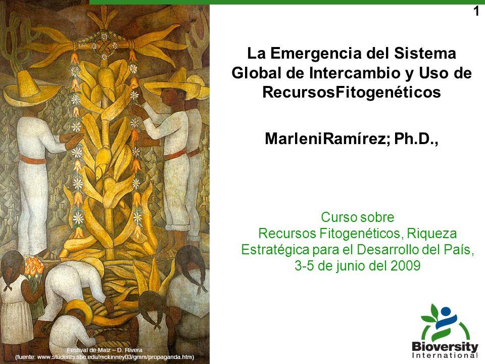 1 Curso sobre Recursos Fitogenéticos, Riqueza Estratégica para el Desarrollo del País, 3-5 de junio del 2009 La Emergencia del Sistema Global de Inter