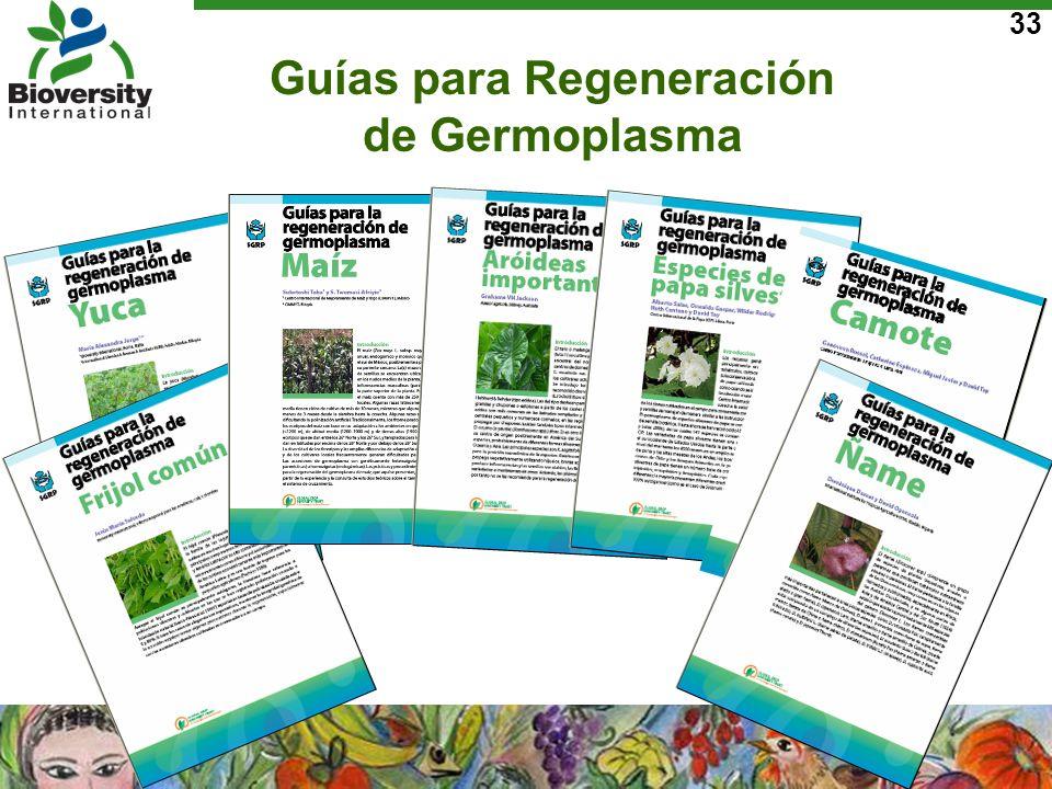 33 Guías para Regeneración de Germoplasma