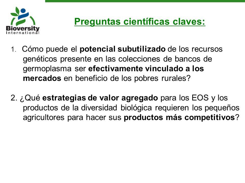 1. Cómo puede el potencial subutilizado de los recursos genéticos presente en las colecciones de bancos de germoplasma ser efectivamente vinculado a l