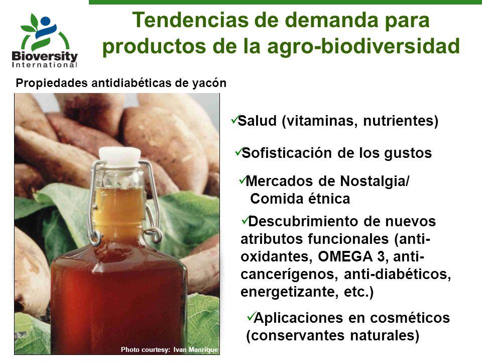 Salud (vitaminas, nutrientes) Quinoa is gluten-free! Sofisticación de los gustos Gourmet chocolate Mercados de Nostalgia/ Comida étnica Supermarkets T