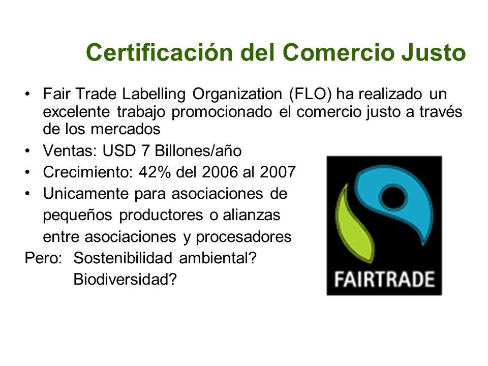 Certificación del Comercio Justo Fair Trade Labelling Organization (FLO) ha realizado un excelente trabajo promocionado el comercio justo a través de