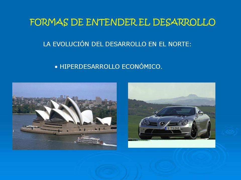 FORMAS DE ENTENDER EL DESARROLLO LA EVOLUCIÓN DEL DESARROLLO EN EL NORTE: HIPERDESARROLLO ECONÓMICO.