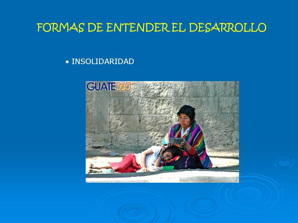 FORMAS DE ENTENDER EL DESARROLLO INSOLIDARIDAD