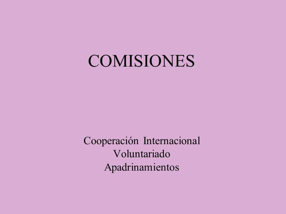 COMISIONES Cooperación Internacional Voluntariado Apadrinamientos