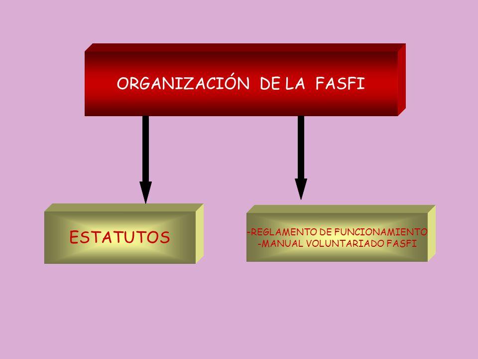 ORGANIZACIÓN DE LA FASFI ESTATUTOS - REGLAMENTO DE FUNCIONAMIENTO -MANUAL VOLUNTARIADO FASFI