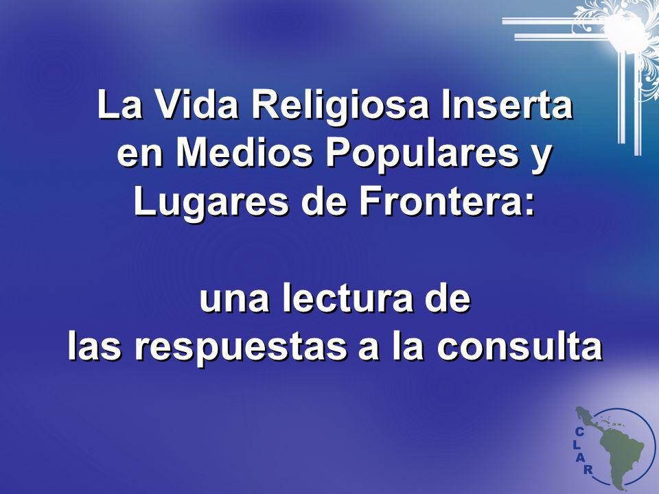 La Vida Religiosa Inserta en Medios Populares y Lugares de Frontera: una lectura de las respuestas a la consulta