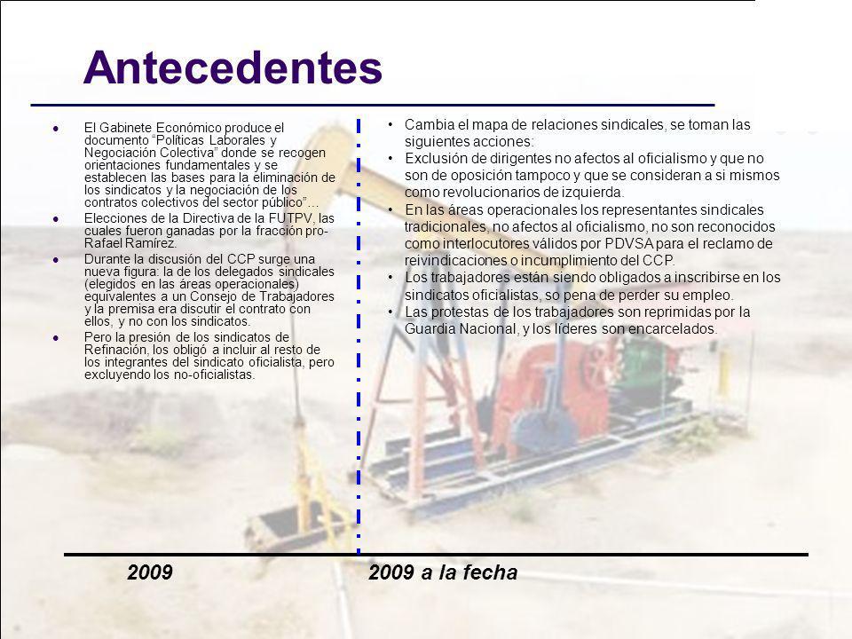 Antecedentes El Gabinete Económico produce el documento Políticas Laborales y Negociación Colectiva donde se recogen orientaciones fundamentales y se
