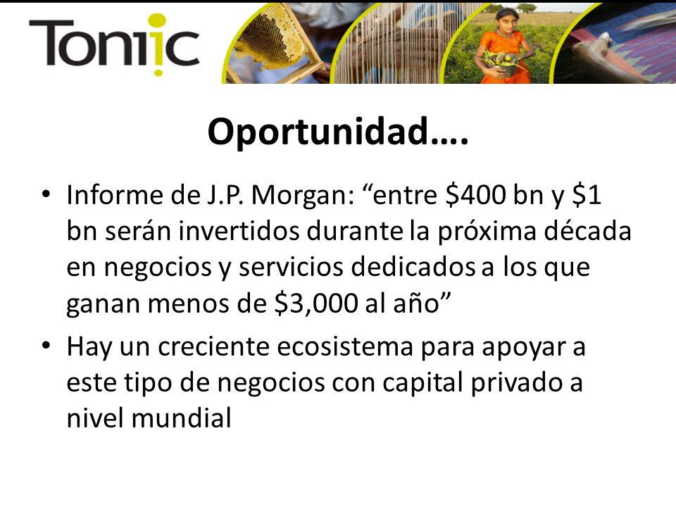 Oportunidad…. Informe de J.P. Morgan: entre $400 bn y $1 bn serán invertidos durante la próxima década en negocios y servicios dedicados a los que gan