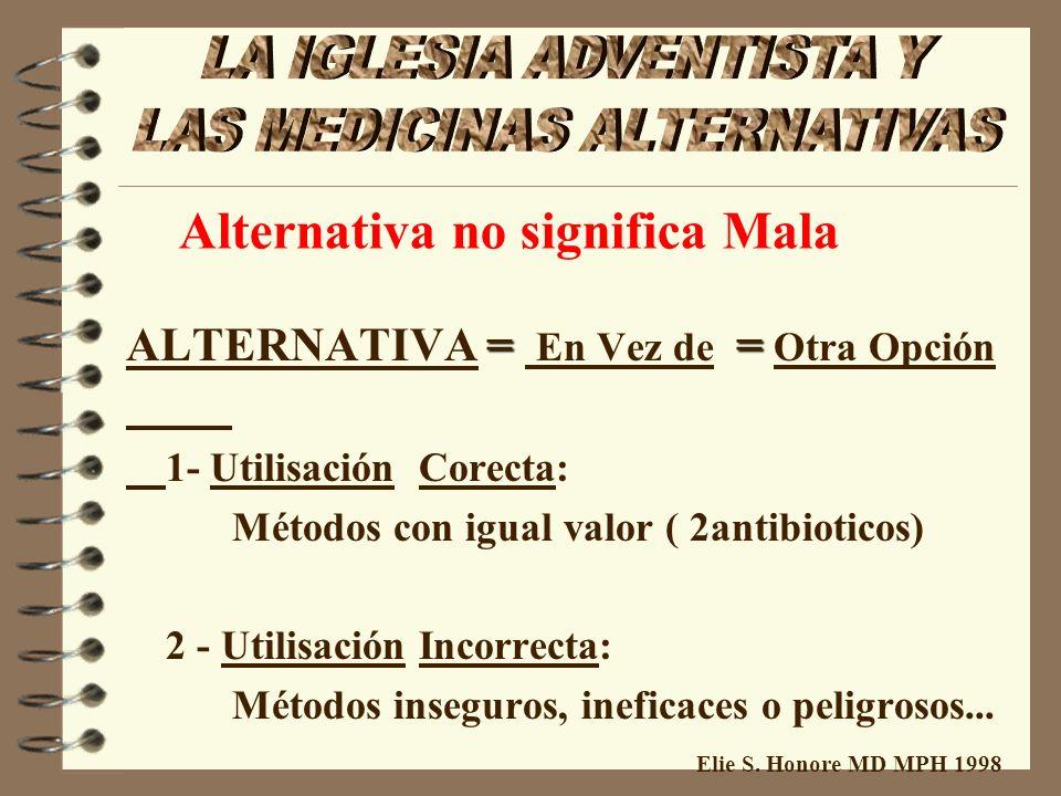 Elie S. Honore MD MPH 1998 Breve Analisis de unas medicinas alternativas