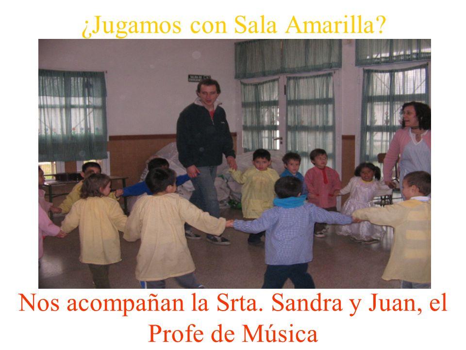 ¿Jugamos con Sala Amarilla? Nos acompañan la Srta. Sandra y Juan, el Profe de Música