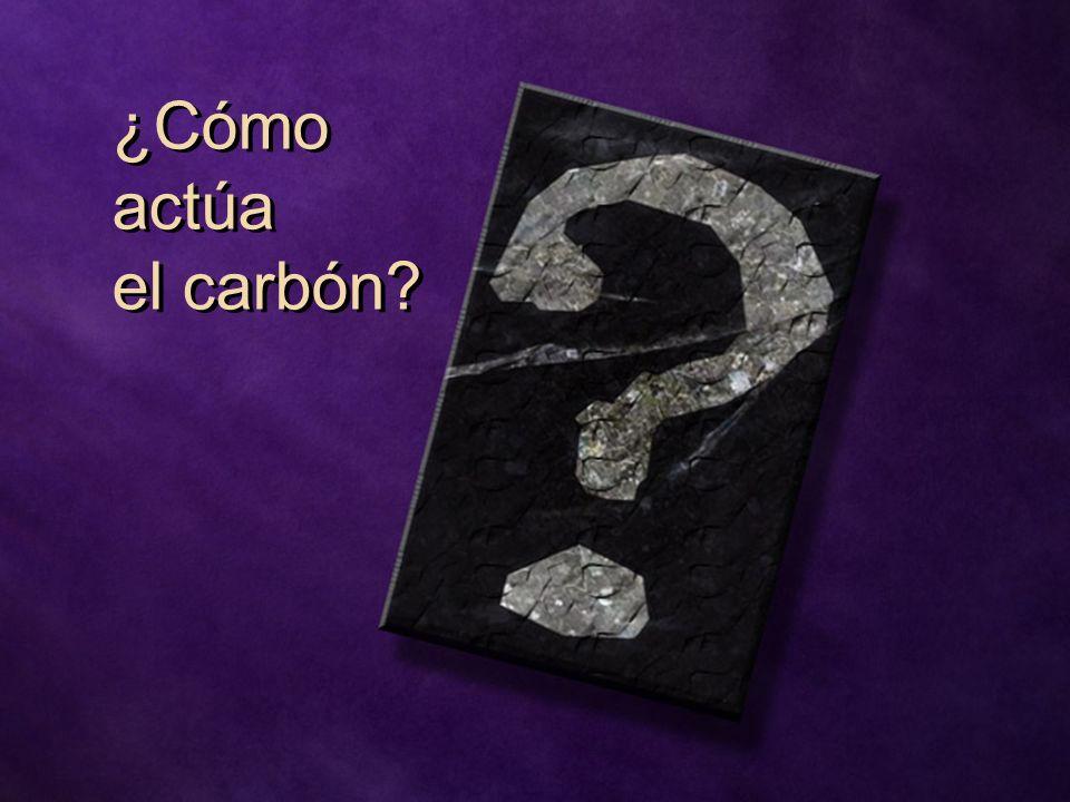 ¿Cómo actúa el carbón?