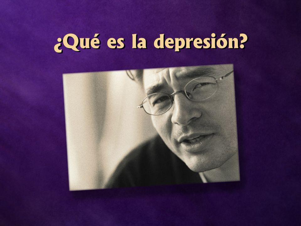 ¿Qué es la depresión?