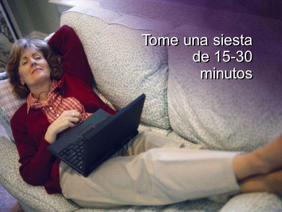 Tome una siesta de 15-30 minutos