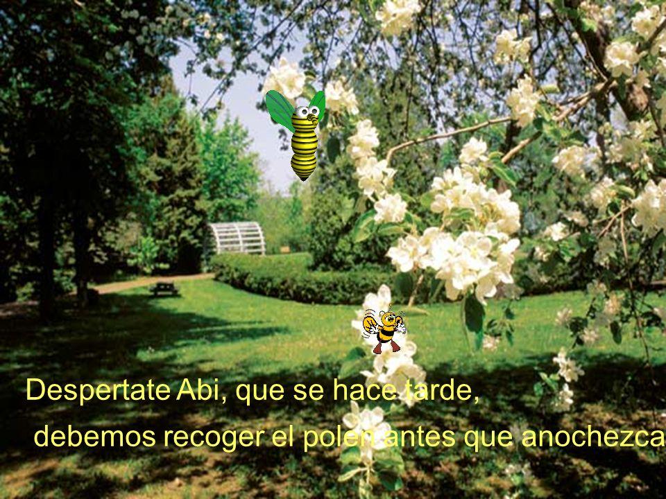 Despertate Abi, que se hace tarde, debemos recoger el polen antes que anochezca.