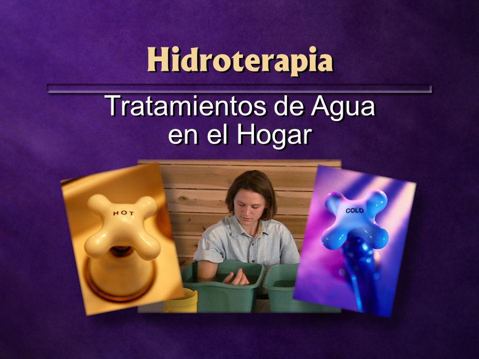 Hidroterapia Tratamientos de Agua en el Hogar