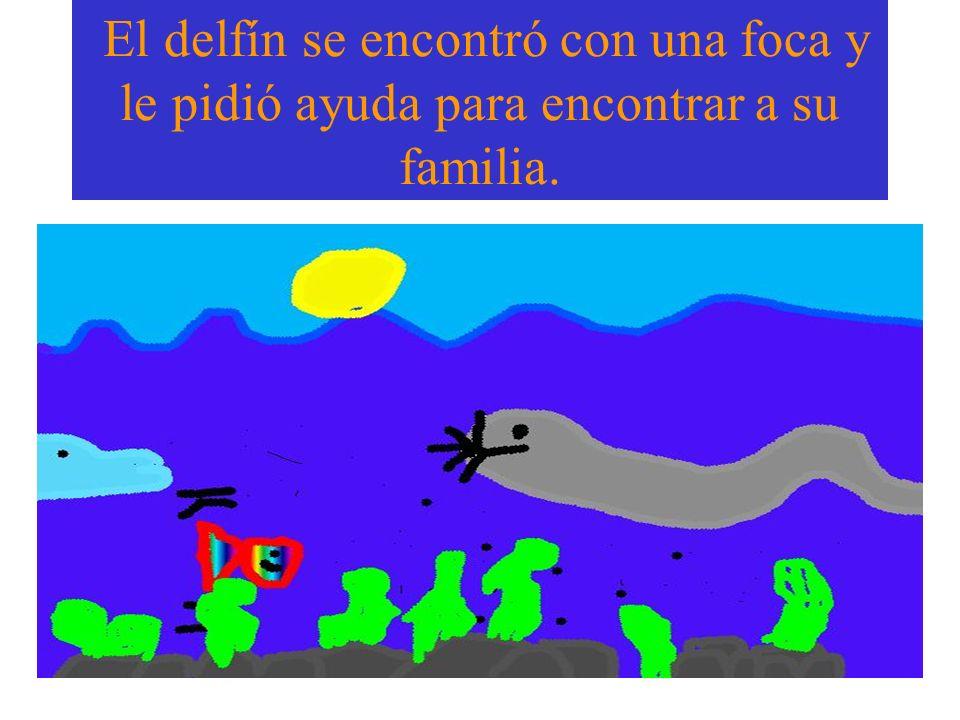 El delfín se encontró con una foca y le pidió ayuda para encontrar a su familia.