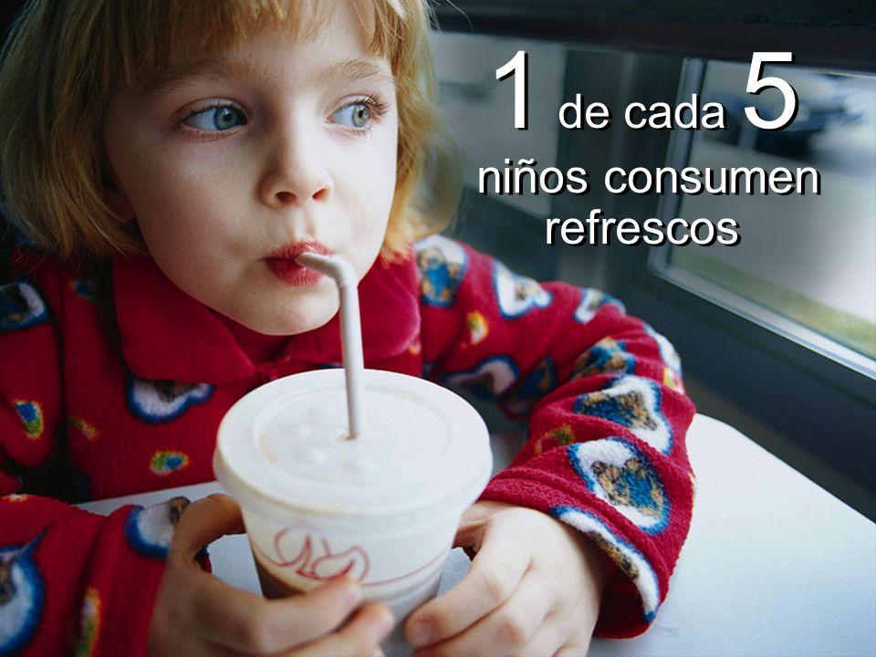 1 de cada 5 niños consumen refrescos 1 de cada 5 niños consumen refrescos