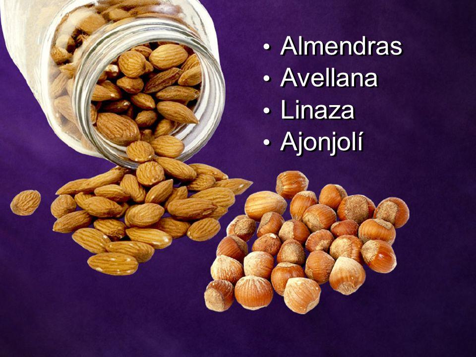 Almendras Avellana Linaza Ajonjolí Almendras Avellana Linaza Ajonjolí