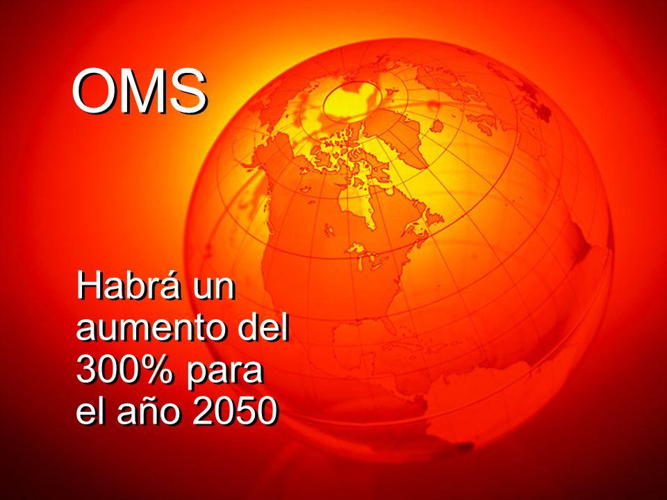 Habrá un aumento del 300% para el año 2050 OMS