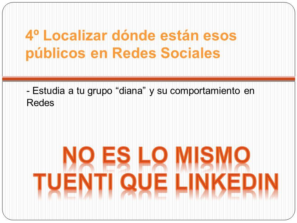 4º Localizar dónde están esos públicos en Redes Sociales - Estudia a tu grupo diana y su comportamiento en Redes
