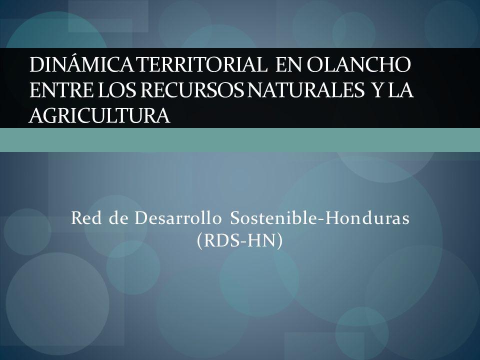 DINÁMICA TERRITORIAL EN OLANCHO ENTRE LOS RECURSOS NATURALES Y LA AGRICULTURA Red de Desarrollo Sostenible-Honduras (RDS-HN)