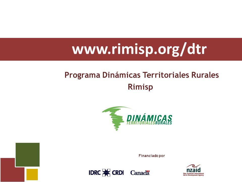 www.rimisp.org/dtr Programa Dinámicas Territoriales Rurales Rimisp Financiado por