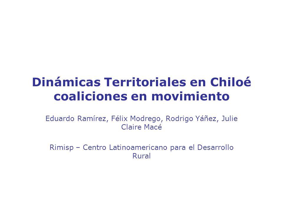 Conclusiones La identidad cultural de Chiloé puede transformarse en un activo de la comunidad local que permita a los actores por un lado, la consolidación de estrategias locales de desarrollo económico incluyente basadas en identidad cultural y, por el otro, la sostenibilidad de instituciones y coaliciones innovadoras.