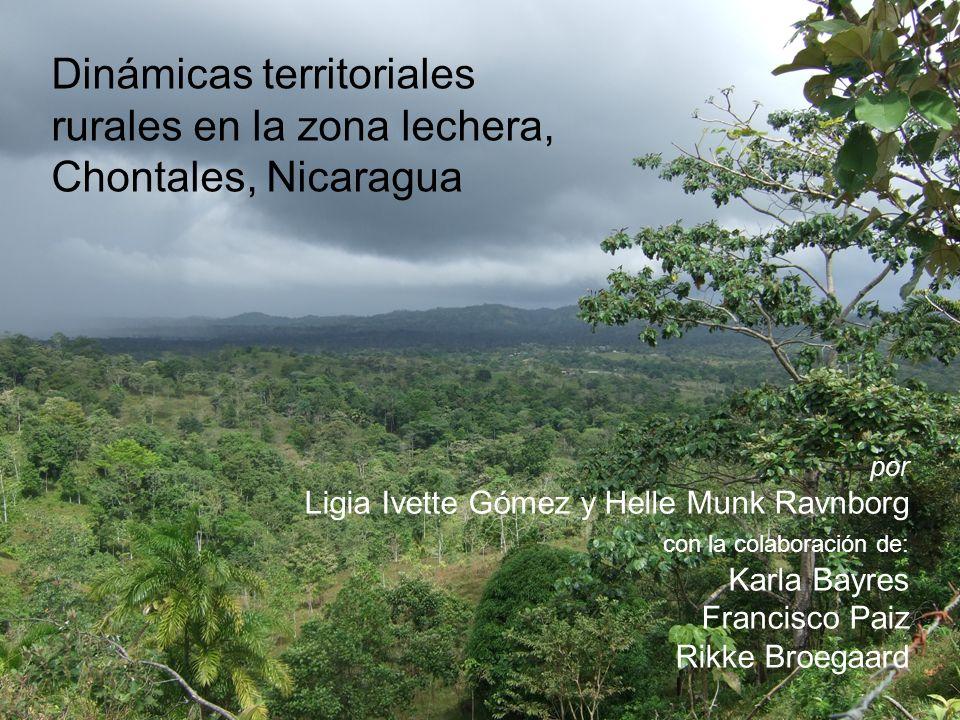 Dinámicas territoriales rurales en la zona lechera, Chontales, Nicaragua por Ligia Ivette Gómez y Helle Munk Ravnborg con la colaboración de: Karla Bayres Francisco Paiz Rikke Broegaard