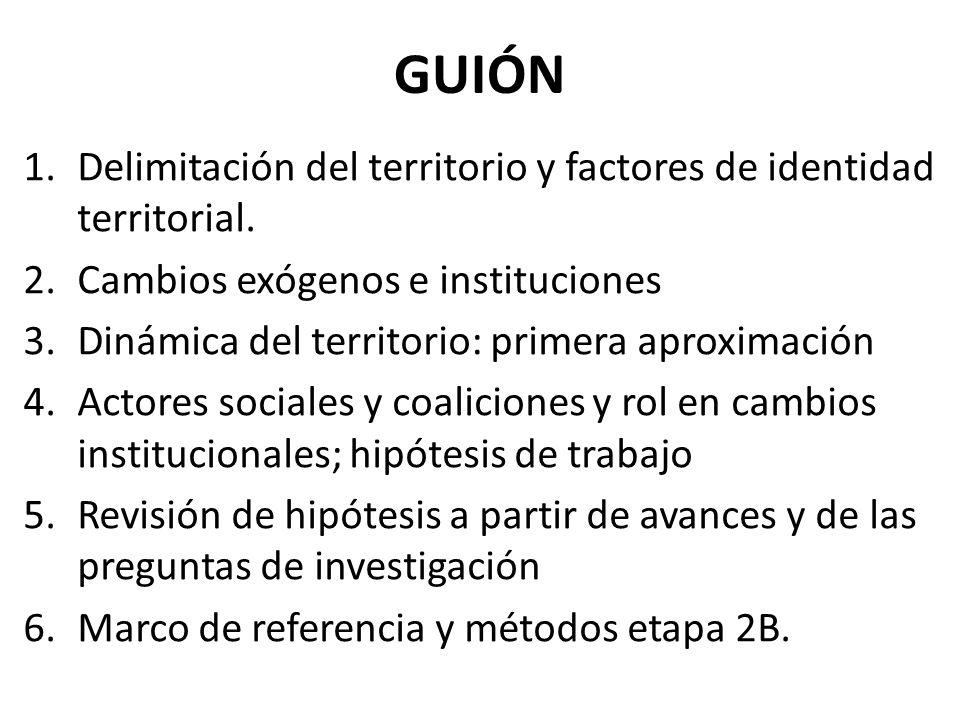 GUIÓN 1.Delimitación del territorio y factores de identidad territorial.