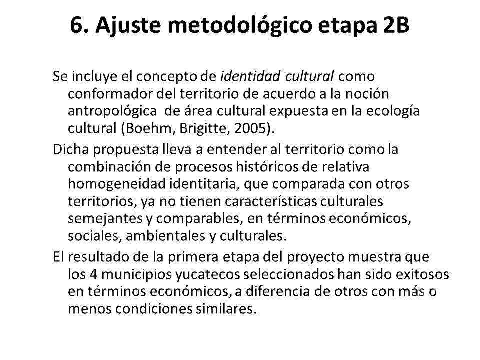6. Ajuste metodológico etapa 2B Se incluye el concepto de identidad cultural como conformador del territorio de acuerdo a la noción antropológica de á