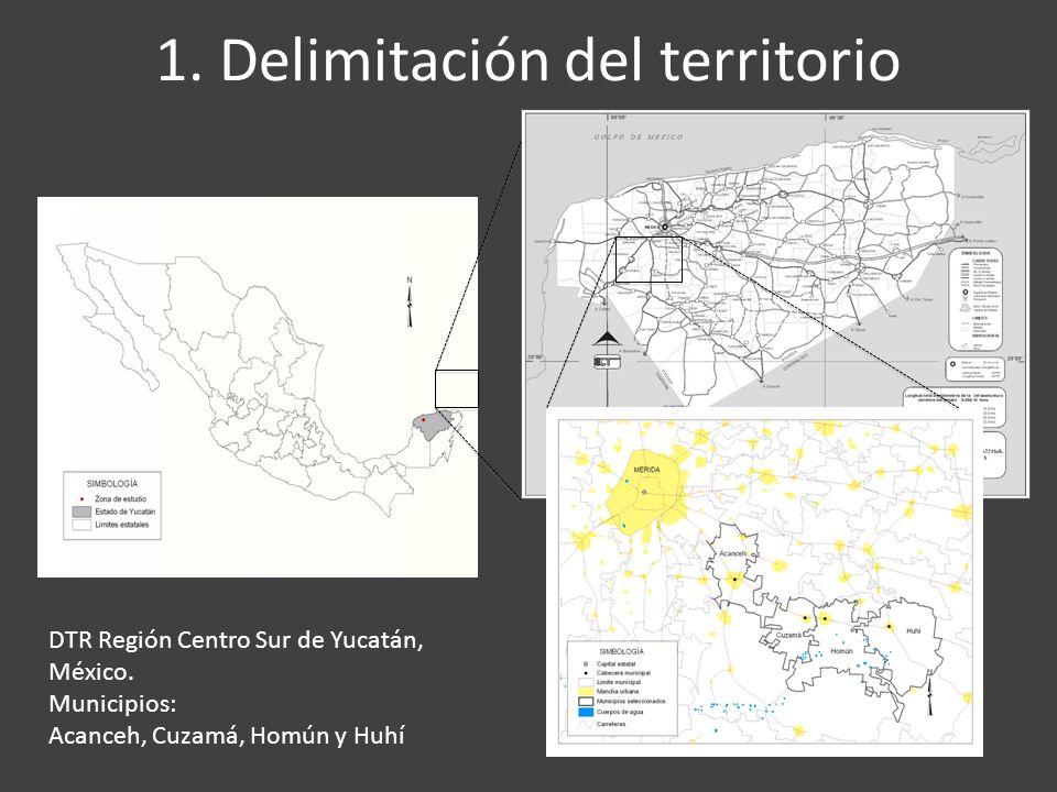 1. Delimitación del territorio DTR Región Centro Sur de Yucatán, México.