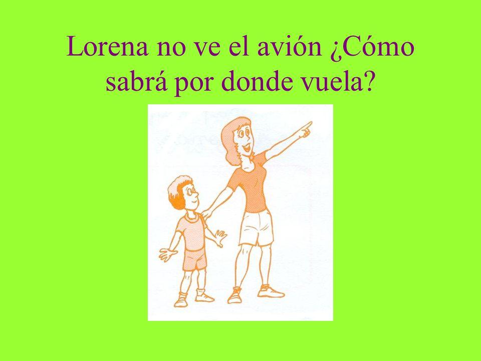 Lorena no ve el avión ¿Cómo sabrá por donde vuela?