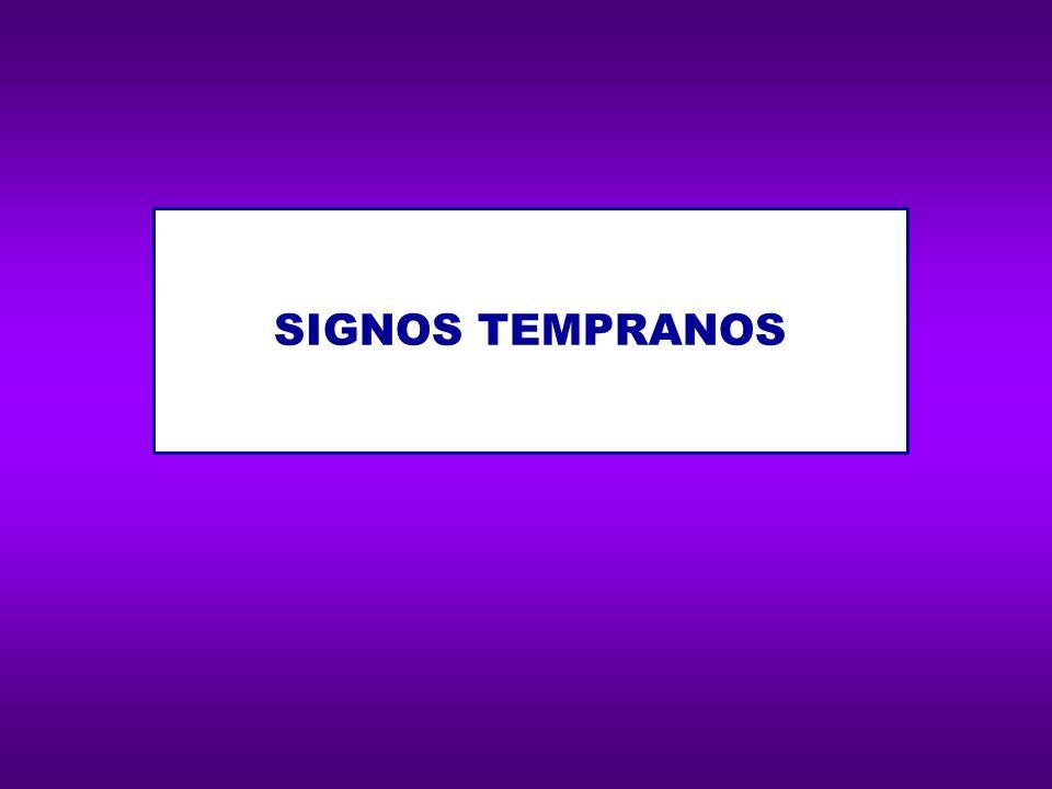 RETRASO EN LA ADQUISICIÓN DEL LENGUAJE ORAL DIFICULTADES EN ORIENTACIÓN DERECHA-IZQUIERDA DIFICULTADES CON LA MANIPULACIÓN DE SUS PRENDAS DE VESTIR (abotonarse, subir cierres…) TENDENCIA A ESCRIBIR LOS NÚMEROS EN DIRECCIÓN INADECUADA DIFICULTADES PARA APRENDER RUTINAS: Ordenar los días de la semana, los meses del año… Aprender tablas de multiplicar Aprender el alfabeto Aprender colores Memorizar canciones sencillas y repetitivas DIFICULTADES EN DENOMINACIÓN RÁPIDA DE OBJETOS, COLORES, NÚMEROS, NOMBRES DE LETRAS…