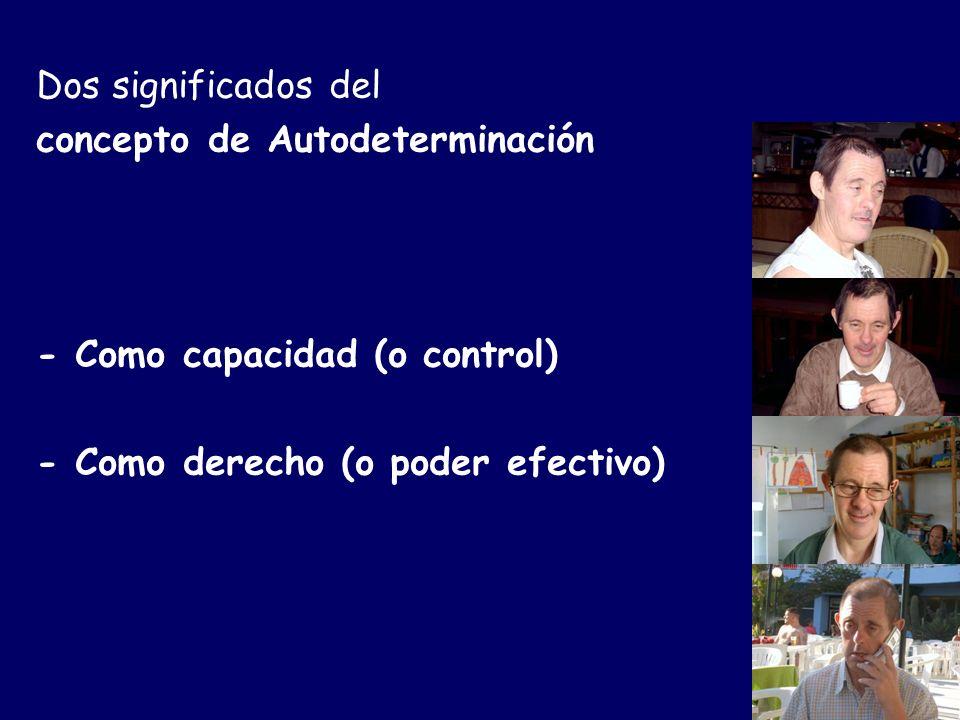 Interpretaciones erróneas de la Autodeterminación (Wehmeyer, 1998). Autodeterminación como actuación independiente. Autodeterminación como control abs