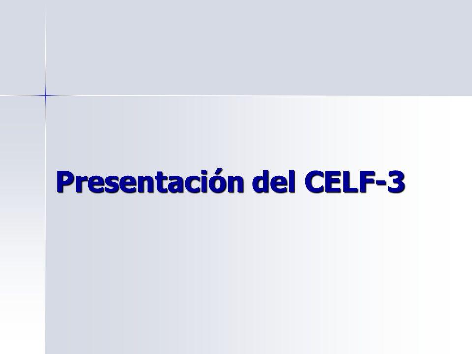 Presentación del CELF-3