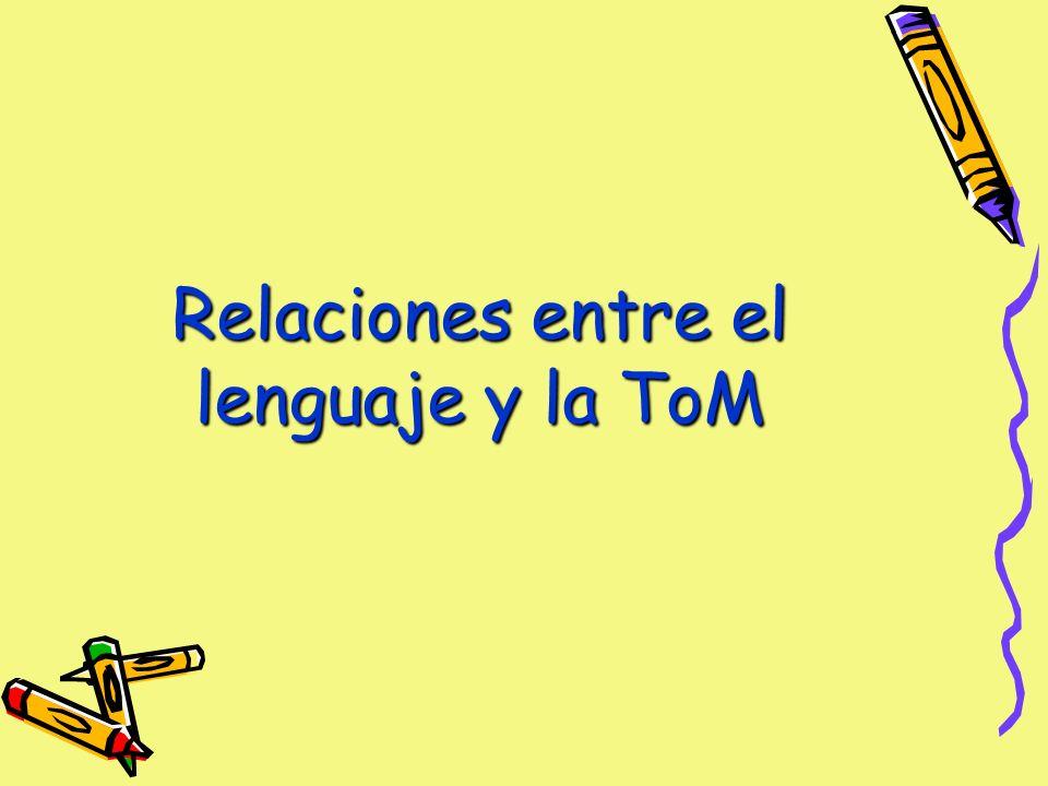 Relaciones entre el lenguaje y la ToM