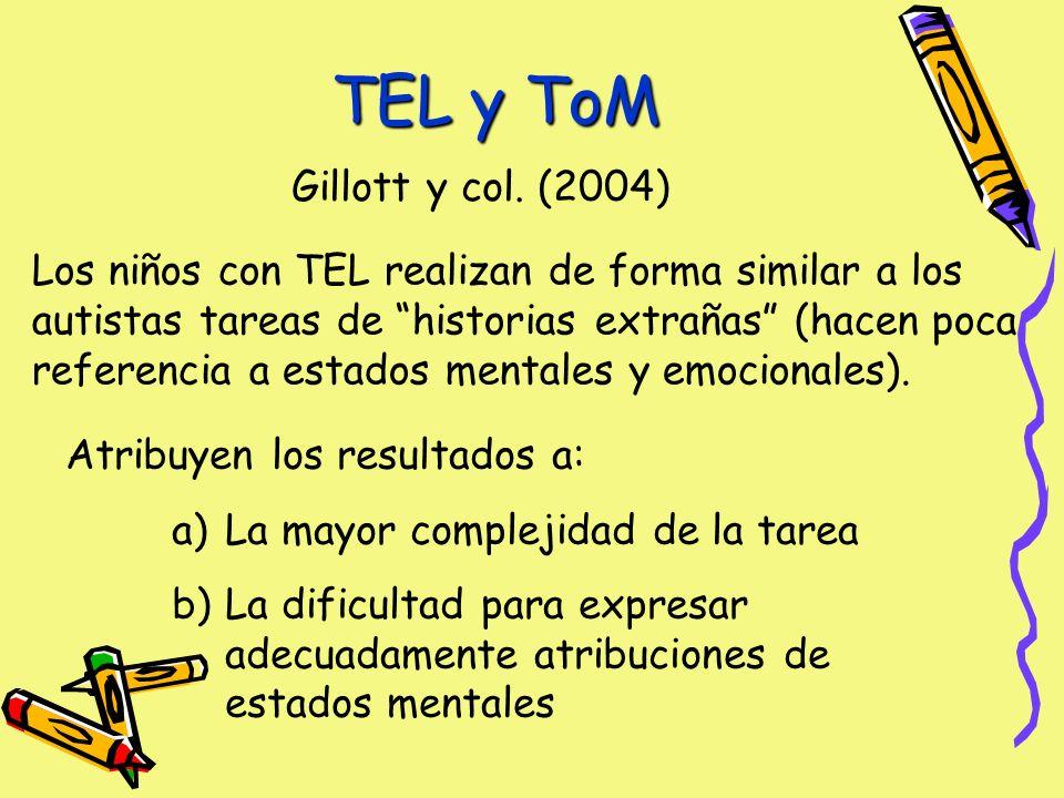 TEL y ToM Gillott y col.