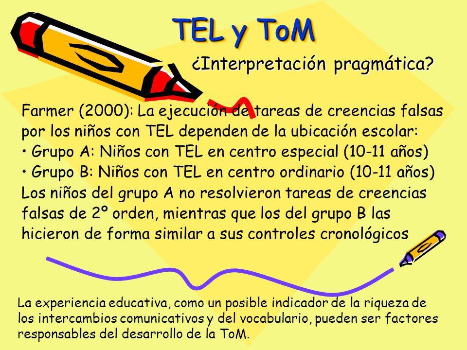 TEL y ToM ¿Interpretación pragmática.