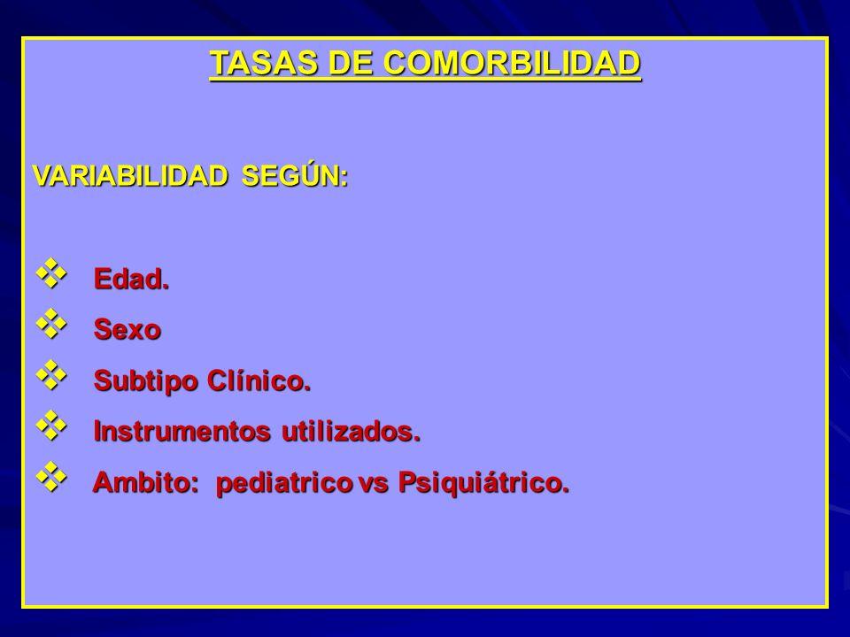 COMORBILIDAD PSIQUIATRICA TRASTORNOS DISOCIALES Y TRASTORNOS NEGATIVISTAS DESAFIANTES.