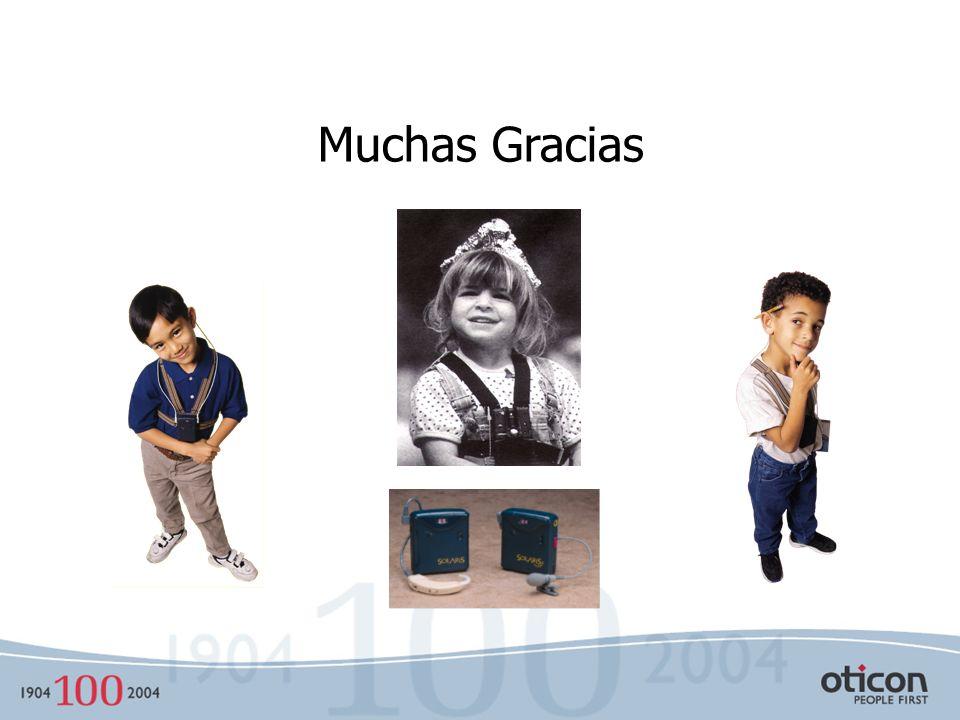 Conclusiones Estimulación de sistema auditivo Discriminación en situación escolar Mejora relación señal ruido en situación escolar 0 - 6 años 6 - 12 a