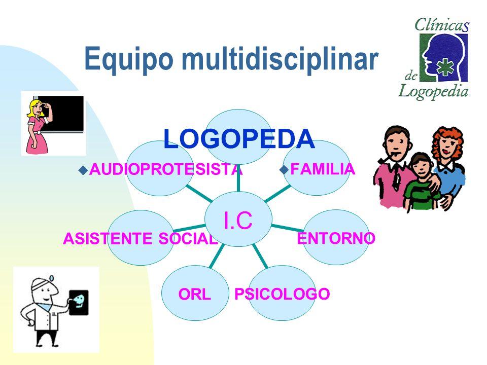 Equipo multidisciplinar I.C LOGOPEDA FAMILIAENTORNOPSICOLOGOORLASISTENTE SOCIAL AUDIOPROTESISTA