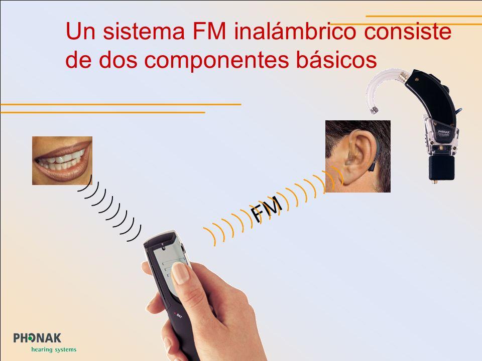 MultiFrequency_GB _5 Un sistema FM inalámbrico consiste de dos componentes básicos FM