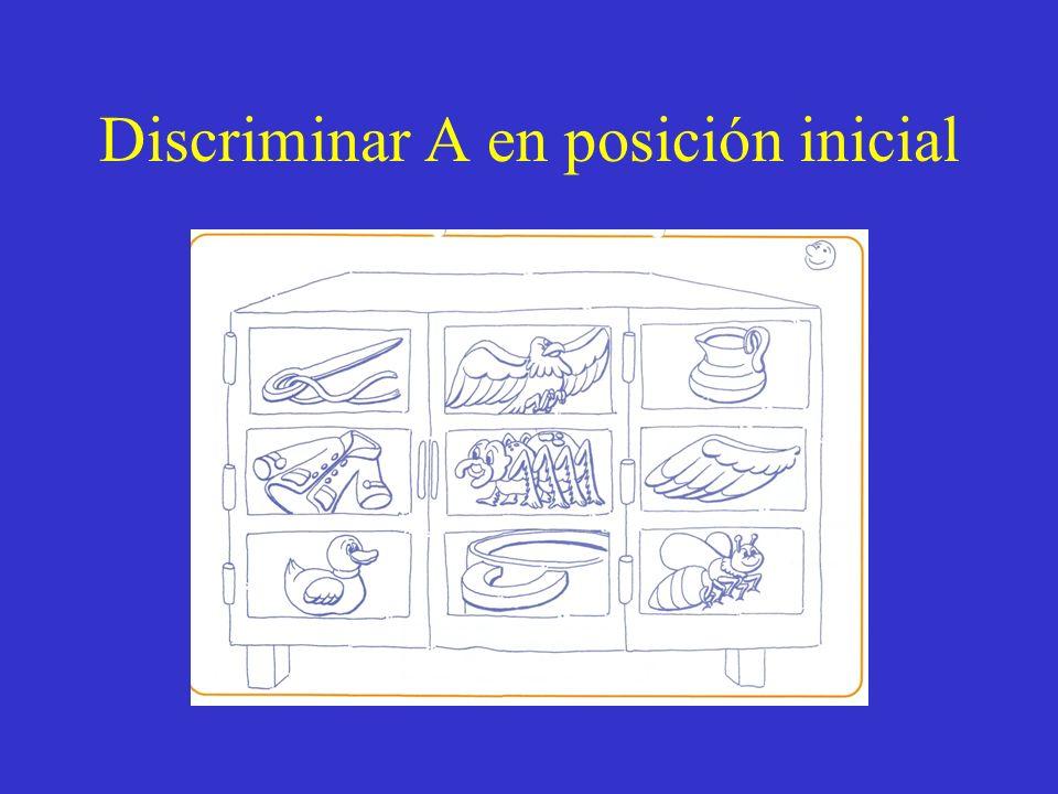 Discriminar A en posición inicial