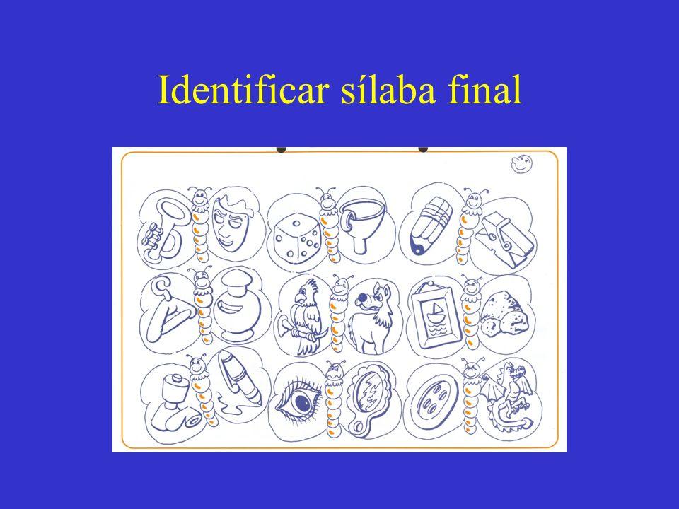 Identificar sílaba final