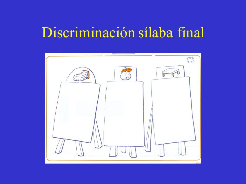 Discriminación sílaba final